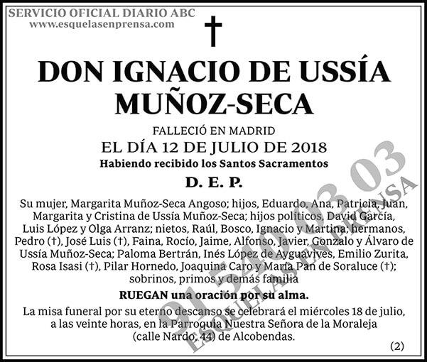 Ignacio de Ussía Muñoz-Seca